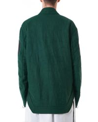 D.GNAK Green 'karate Gi' Jacket for men