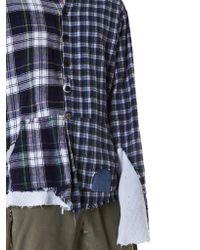 Greg Lauren Blue Reconstructed 'studio' Flannel for men