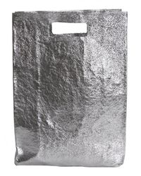 Zilla | Gray Metallic Leather Shopping Bag | Lyst