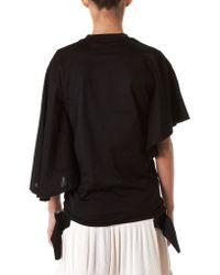 Toga Black Asymmetric Sleeve Blouse