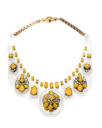 Shourouk | Multicolor Clear Bib Necklace | Lyst