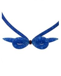 Peppercotton | Blue Sapphire Bow Necklace | Lyst