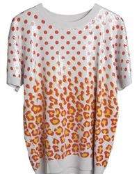 Sibling - Multicolor Sequined Short Sleeve Graphic Sweatshirt - Lyst