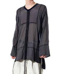 Di Liborio | Black Sheer Buttoned Nightgown | Lyst