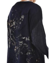 Avant Toi Blue Object-dyed Crewneck Pullover