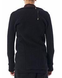 Boris Bidjan Saberi Blue Zipped Wool-cashmere Jacket for men