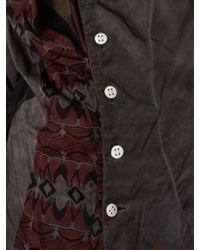 Vivienne Westwood Multicolor Graphic Cowled Button-down