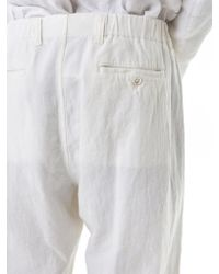 Issey Miyake - White Crepe-knit Trousers for Men - Lyst