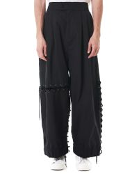 Craig Green Black Oversized Laced Track Pants for men