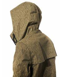 Christopher Raeburn - Green Line-printed Hooded Windbreaker for Men - Lyst