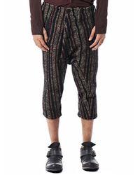 Boris Bidjan Saberi Black Cropped Tweed Pant for men