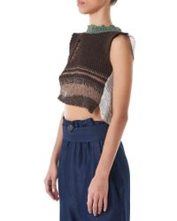 Vivienne Westwood Blue Hand-knit Cropped Top