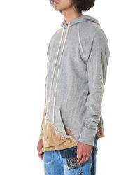Greg Lauren - Gray 50/50 'carhartt' Pullover - Lyst