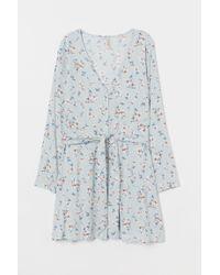 H&M Blue Kleid mit Bindegürtel