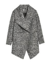 H&M Gray Zweireihiger Mantel