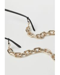 H&M Metallic Glasses And Face Mask Chain