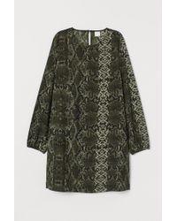 H&M Black Weites Kleid