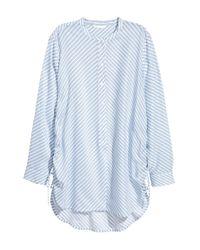 H&M Blue Bluse mit Kordelzügen