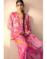 H&M Pink Wide-cut Dress