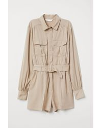 H&M Natural Utility-Playsuit