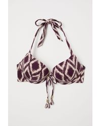 H&M Multicolor Super Push-up Bikini Top
