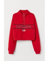 Sweat à col droit H&M en coloris Red