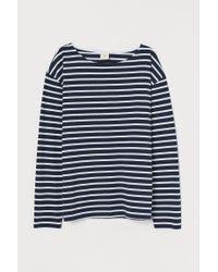 H&M Blue Gestreiftes Jerseyshirt
