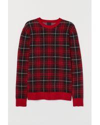 H&M Feinstrickpullover in Red für Herren