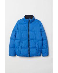 H&M Blue Padded Jacket for men