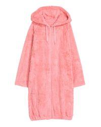 H&M Pink Bademantel mit Kapuze