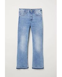 H&M Blue Kickflare High Ankle Jeans