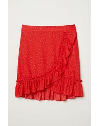 H&M Red Volantrock