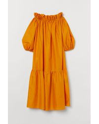 H&M Yellow Off-Shoulder-Kleid