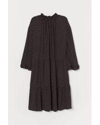 H&M Black Wide Dress