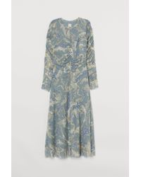 Robe drapée en mesh H&M en coloris Blue