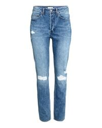H&M Blue Relaxed High Jeans