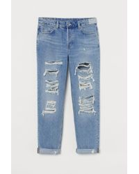 H&M Blue Boyfriend Low Jeans