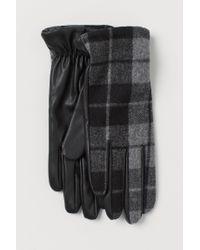 H&M Gray Handschuhe aus Wollmix