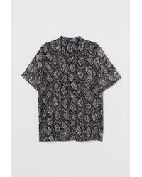 Chemise à col cubain H&M pour homme en coloris White