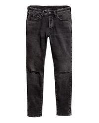 H&M Skinny Jeans in Black für Herren