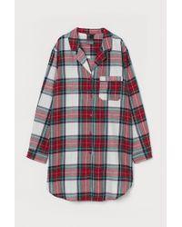 Chemise de nuit en flanelle H&M en coloris Red