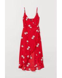 H&M Red Wickelkleid mit Volant
