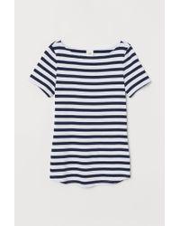 T-shirt à encolure bateau H&M en coloris Blue