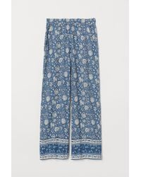 H&M Blue Wide Pull-on Trousers