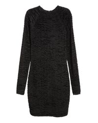 H&M Black Gathered Dress