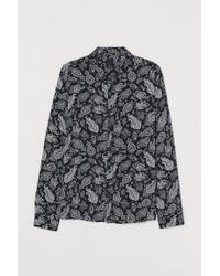 Chemise en viscose Slim Fit H&M pour homme en coloris Black
