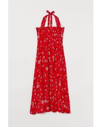 Robe dos nu H&M en coloris Red