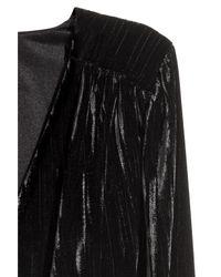 H&M Black Crushed-velvet Dress