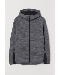 H&M Sportjacke mit Kapuze in Gray für Herren