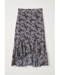 H&M Blue Flounced Skirt